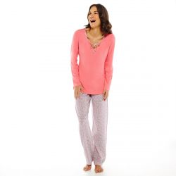 Pyjama noisette/rose Limonade
