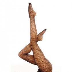 Collant noir motif effet carreaux Julia