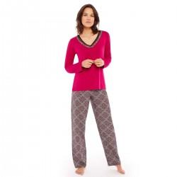 LES JEUX SONT FAITS Pyjama framboise/noir