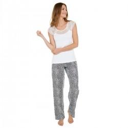 LEO Pyjama ivoire/noir