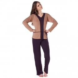 Pyjama camel/prune Chloé