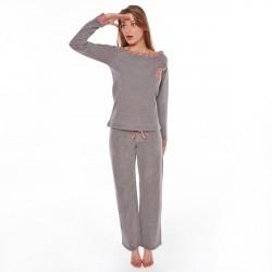 Pyjama gris/corail Easy
