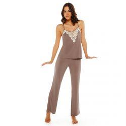 Pyjama noisette/ivoire Dans De Beaux Draps